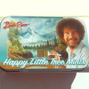 Collectable Bob Ross tree mints